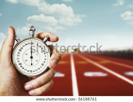 old chronometer - stock photo