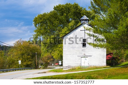 Old Church at Webbville, KY - stock photo