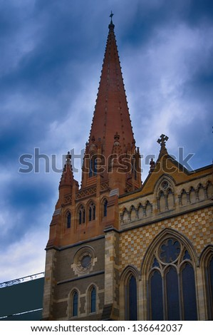 old church building in Melbourne.Australia - stock photo