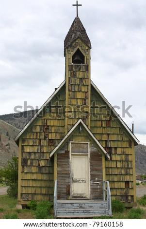 Old church building in Spences Bridge, British Columbia, Canada - stock photo