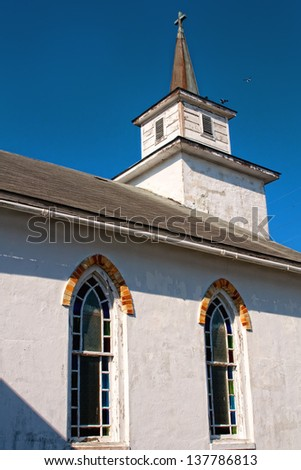 Old church from 1709 - Beaufort North Carolina - stock photo