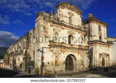 Old Church in Guatemala - stock photo