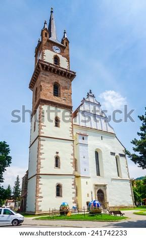 Old church in Miercurea - Ciuc, Romania - stock photo