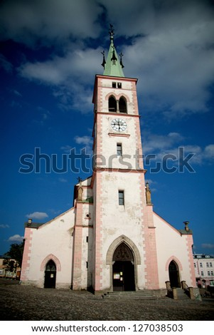 Old Church in the city Kasperske hory, Czech Republic, European Union - stock photo