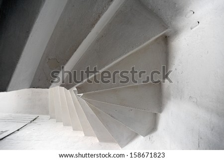 Old circular stairs - stock photo
