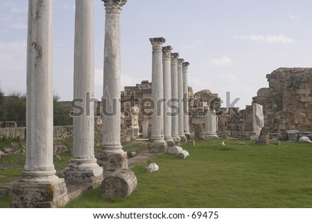 Old city Salamis in Famagusta Cyprus. - stock photo