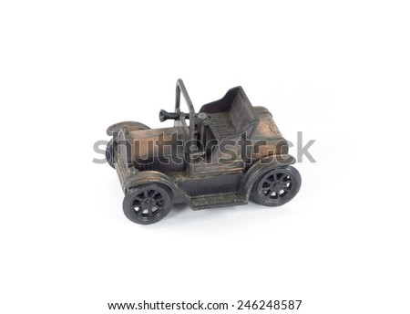 Old Classic toy car - stock photo