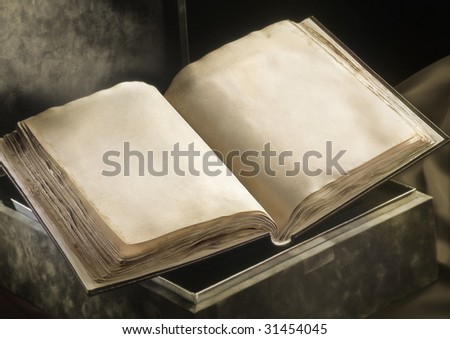 Old  clear book opened - stock photo