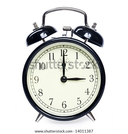 Old clock isolated - stock photo