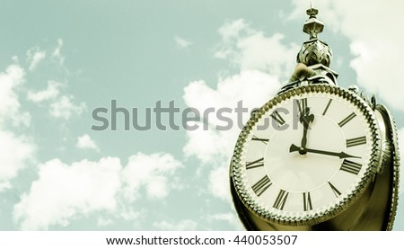 old clock on the street - stock photo