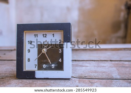 Old clock on the wooden - stock photo