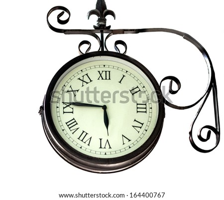 old clock time - stock photo