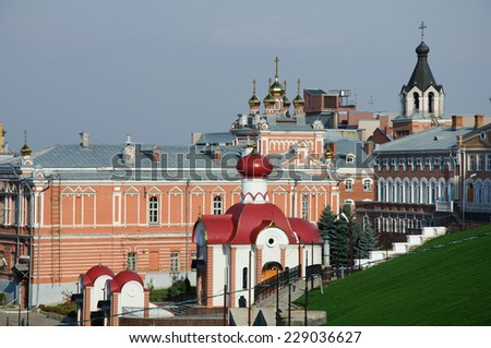 old cloister in Russia, Samara city - stock photo