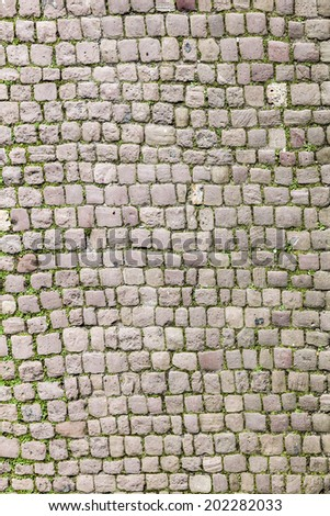 old cobble stone street in Heidelberg - stock photo