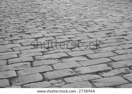 Old cobblestone street - stock photo