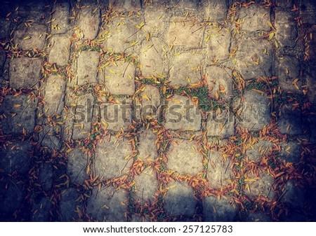 old cobblestone texture - stock photo