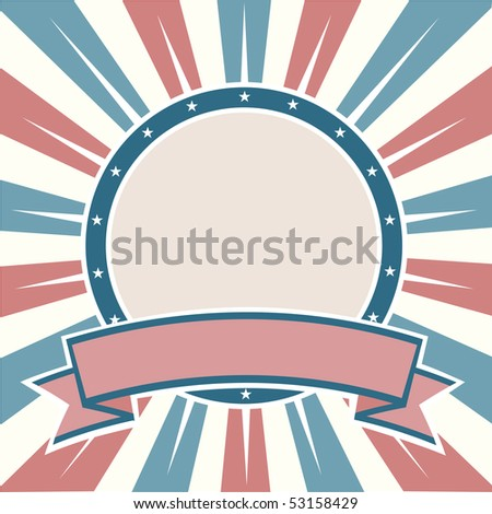 Old Colors American Round - stock photo