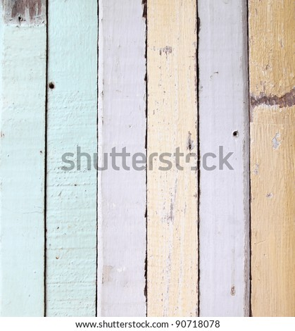 old colour wooden wall texture - stock photo