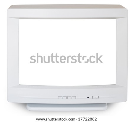 Old computer screen. - stock photo
