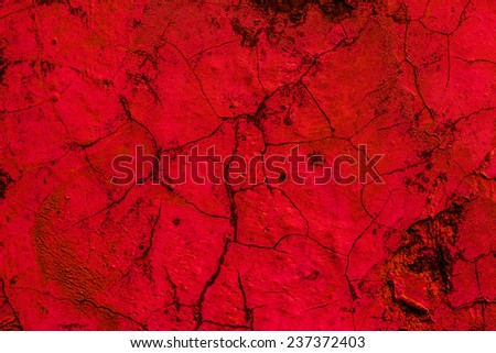 Old concrete wall red background - stock photo