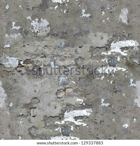 Old Concrete Wall Texture with Cracks and Dirt Spots. Seamless Tileable Texture. - stock photo