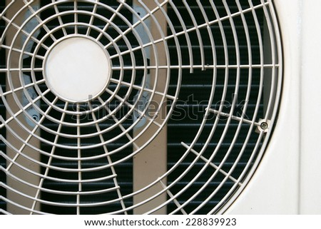 Old condenser fan air background - stock photo