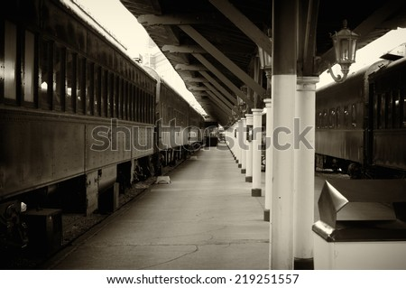 Old Converted Railway Station, Chattanooga TN. - stock photo