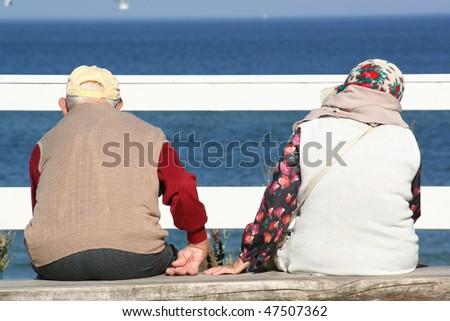 old couple - stock photo