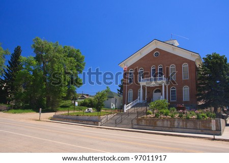 Old court house in Virginia City, Montana - stock photo
