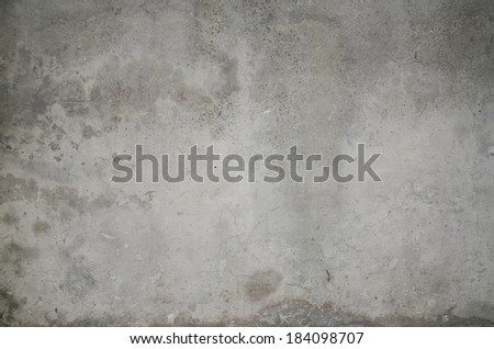 old cracked concrete wall, gray - stock photo