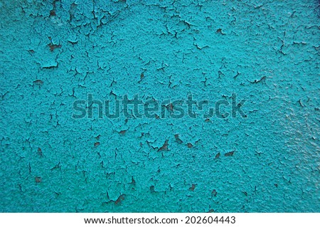 Old cracked paint pattern on rusty background. Peeling paint. Pattern of grunge material. Damaged paint. Scratched old plate - stock photo