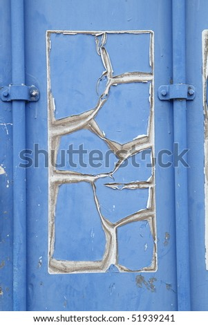 old cracked painted surface - stock photo
