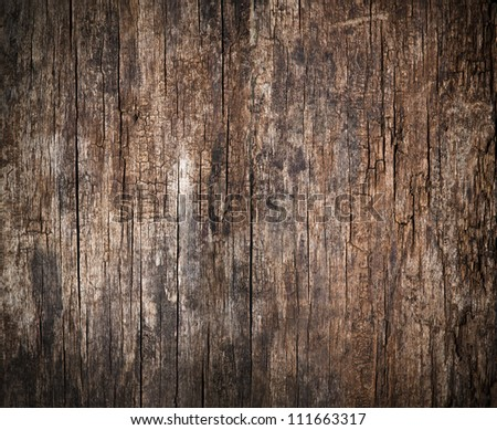 Old, cracked wood background, high resolution - stock photo