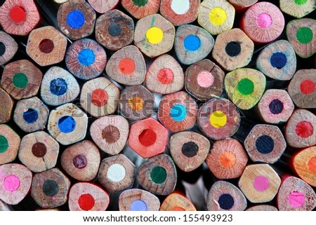 old crayons - stock photo