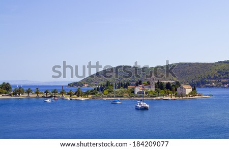 Old Croatian Town Vis on the same Island - stock photo