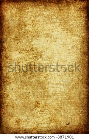 Old damaged paper with border - stock photo