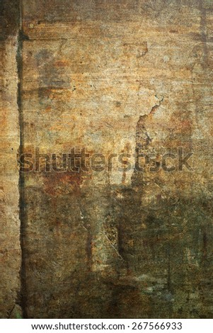 Old, damaged sand stone grunge wall background texture. - stock photo