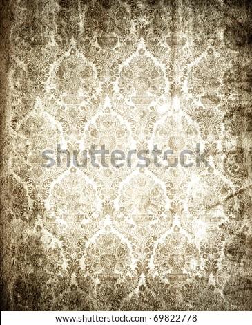 old damask  background - stock photo