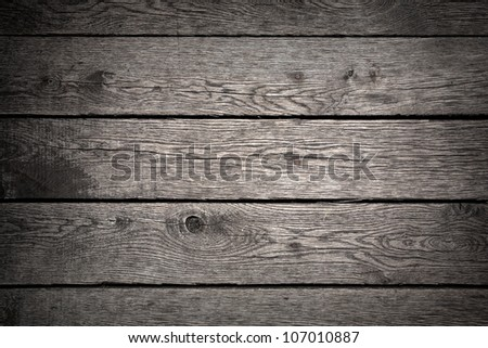 Old dark wood background - stock photo