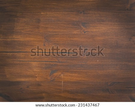 Old dark wood texture with natural pattern - stock photo
