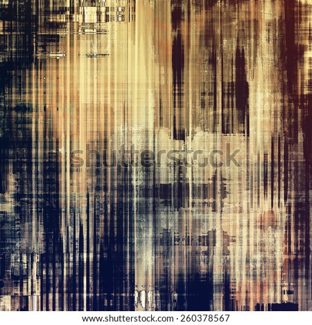 Old designed texture as abstract grunge background. With different color patterns: yellow (beige); brown; blue; black - stock photo
