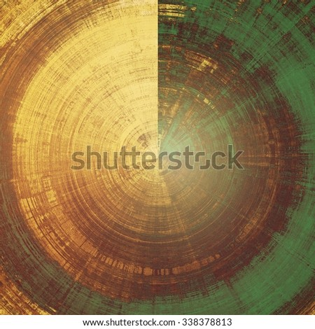 Old designed texture as abstract grunge background. With different color patterns: yellow (beige); brown; gray; green - stock photo