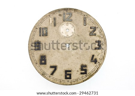 Old dial antique clock - stock photo