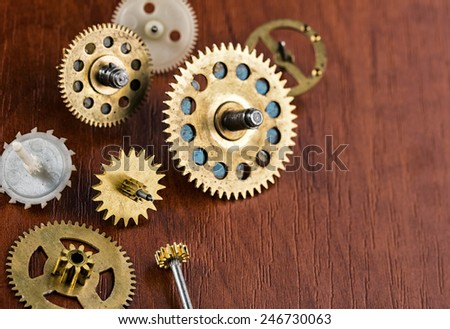 Old different gears - stock photo
