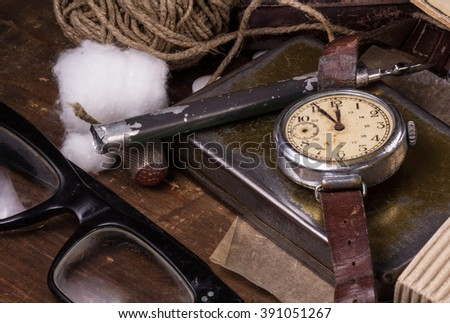 Old different things - stock photo