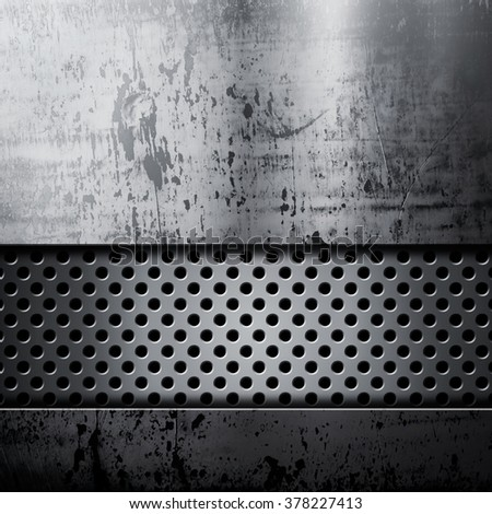 Old dirty and grungy plate metal background - stock photo