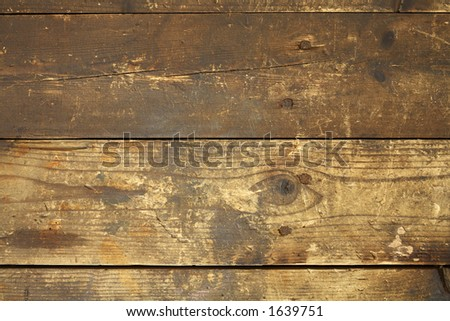 Old, dirty and worn background with some rusty nails. - stock photo