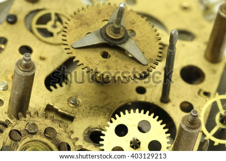 old dirty clockwork abstract background - stock photo