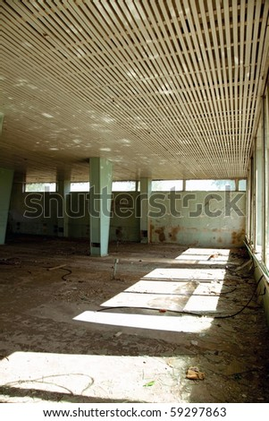 old dirty interior architecture photo - stock photo