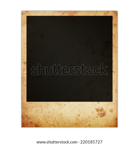 Old dirty photo frame - stock photo